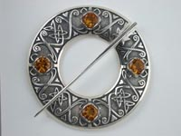 Skye Annular Plaid Brooch