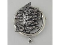 Three Frond Bracken Brooch