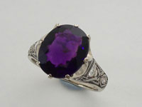 Celtic Crown Ring AAA Amethyst