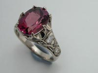 Celtic Crown Ring Purples Tourmaline