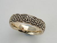 Faerie Crossing Knotwork Band Narrow