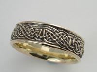 Faerie Crossing Knotwork Band Wide
