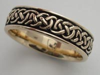 Heather Root Knotwork Band Wide