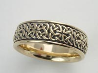 Square Cross Knotwork Band Wide