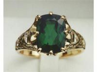 Celtic Crown Green Tourmaline