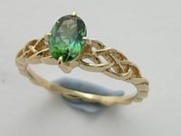 Wee Margaret Ring Green Tourmaline